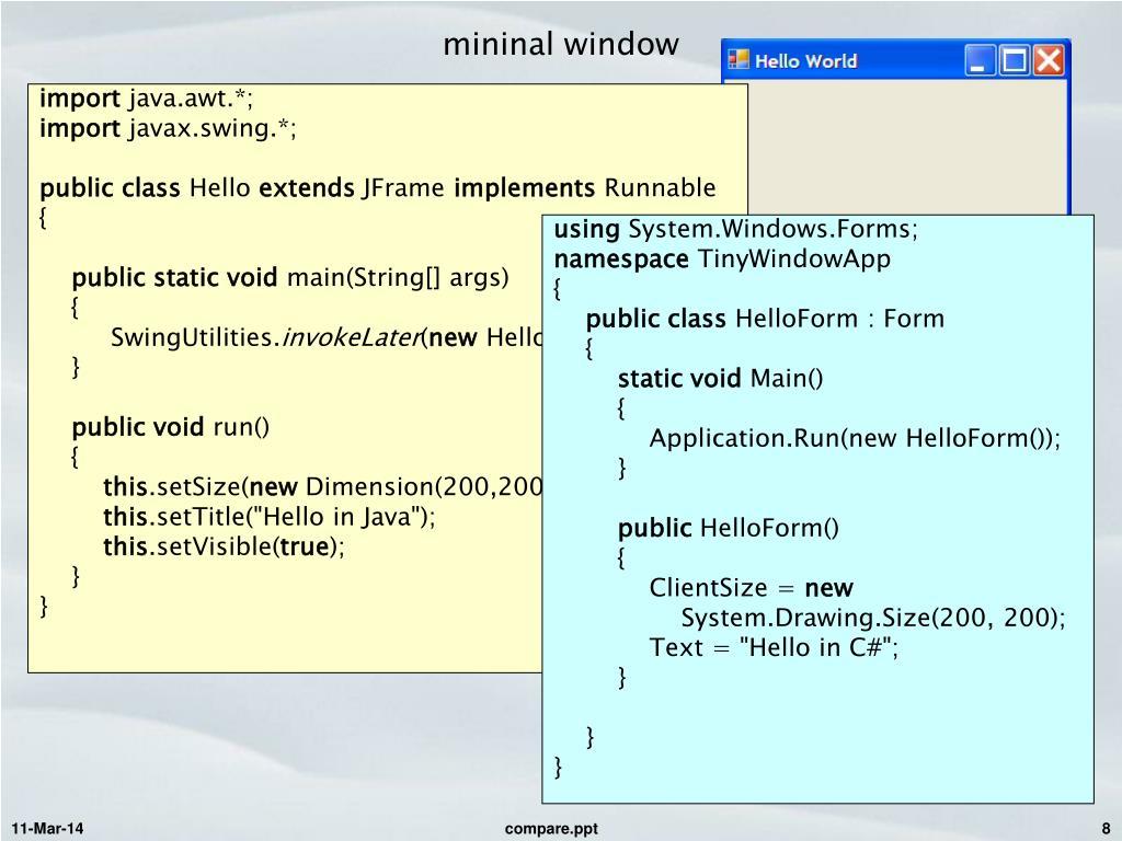 mininal window