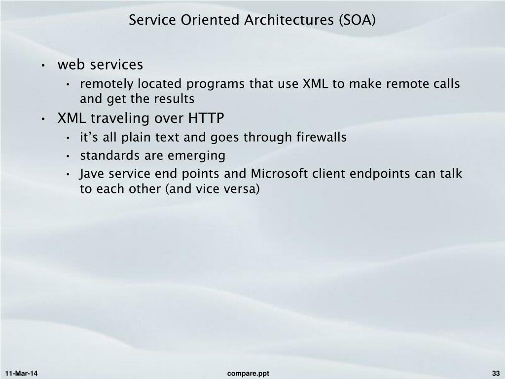 Service Oriented Architectures (SOA)