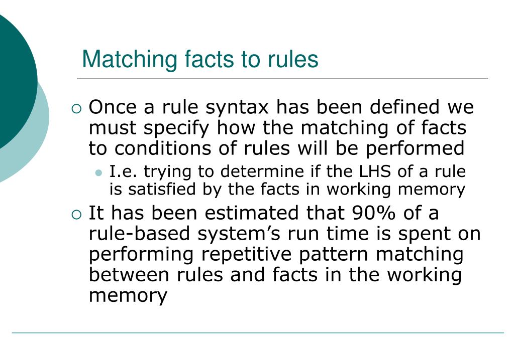 Matching facts to rules