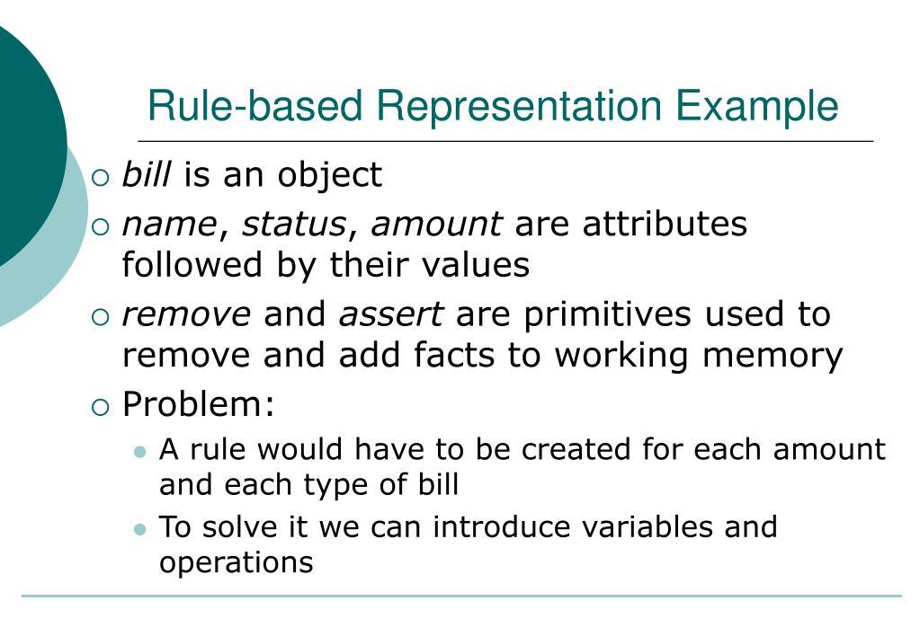 Rule-based Representation Example