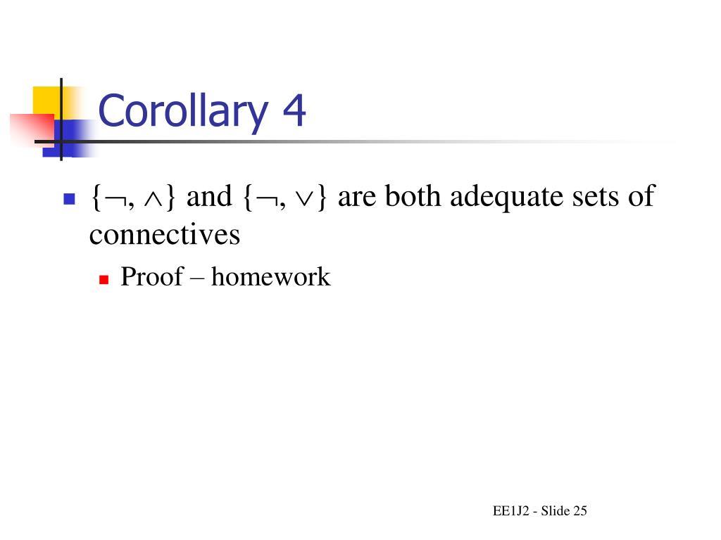 Corollary 4