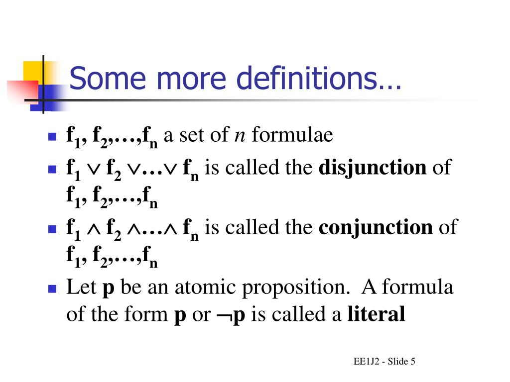 Some more definitions…