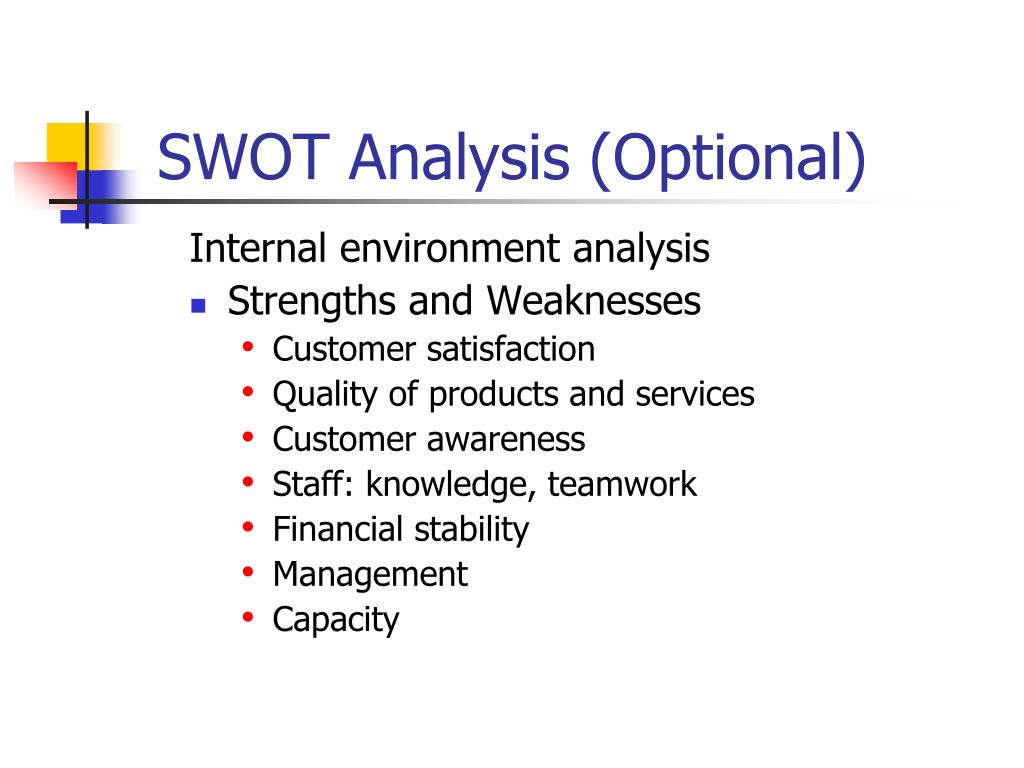 SWOT Analysis (Optional)