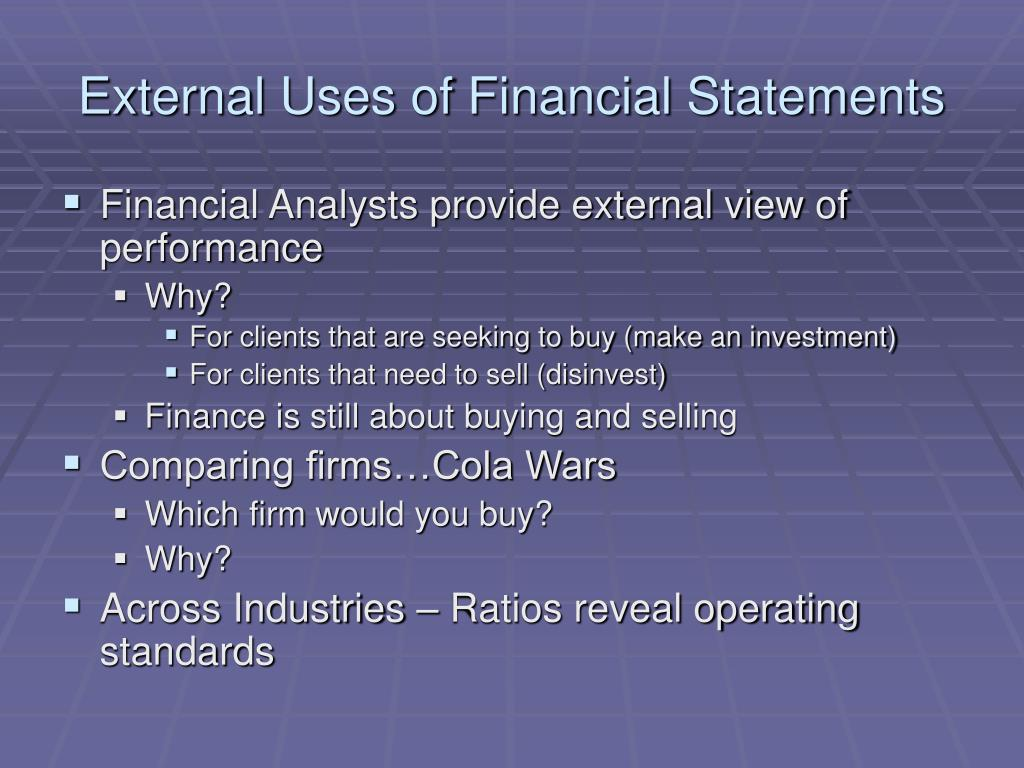 External Uses of Financial Statements