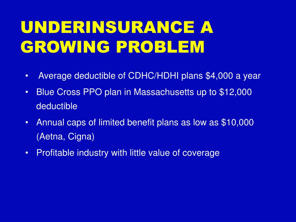 UNDERINSURANCE A GROWING PROBLEM