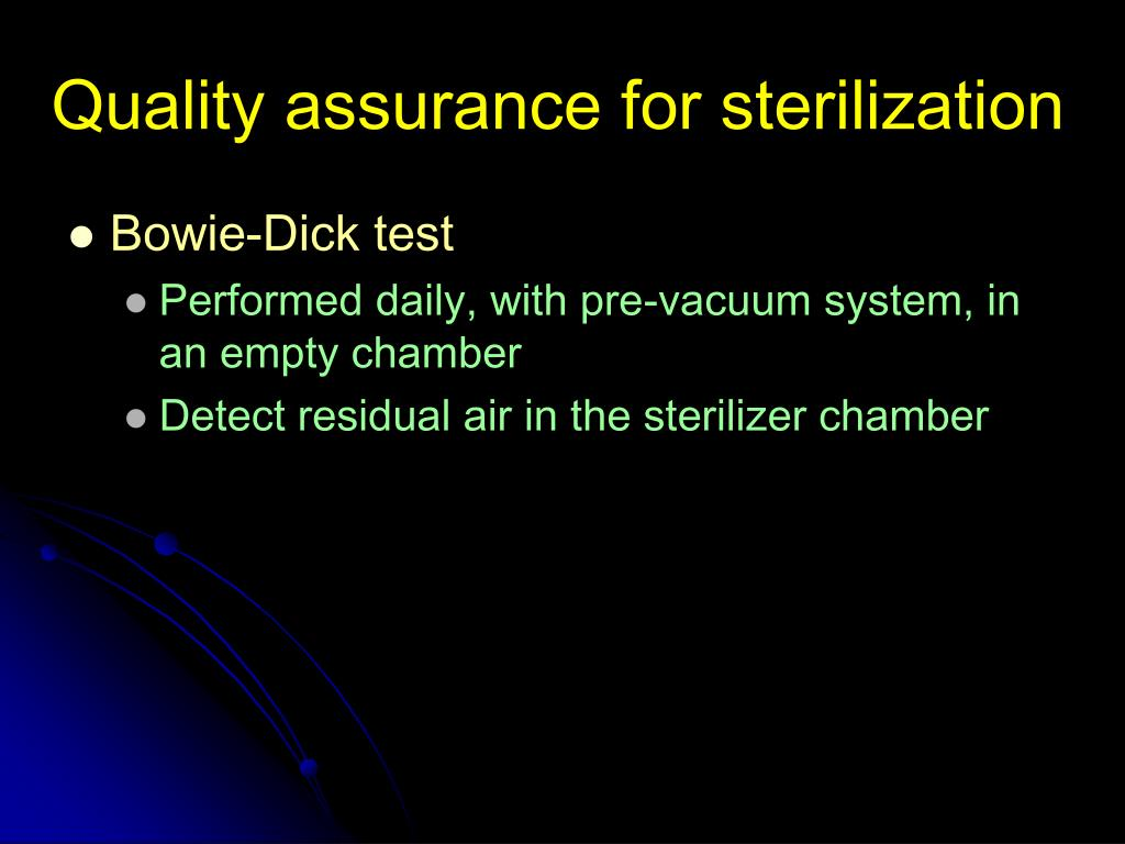 Quality assurance for sterilization