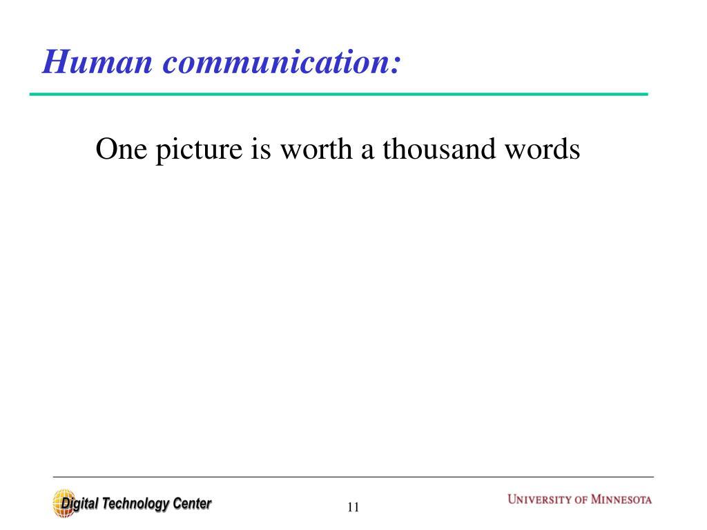 Human communication: