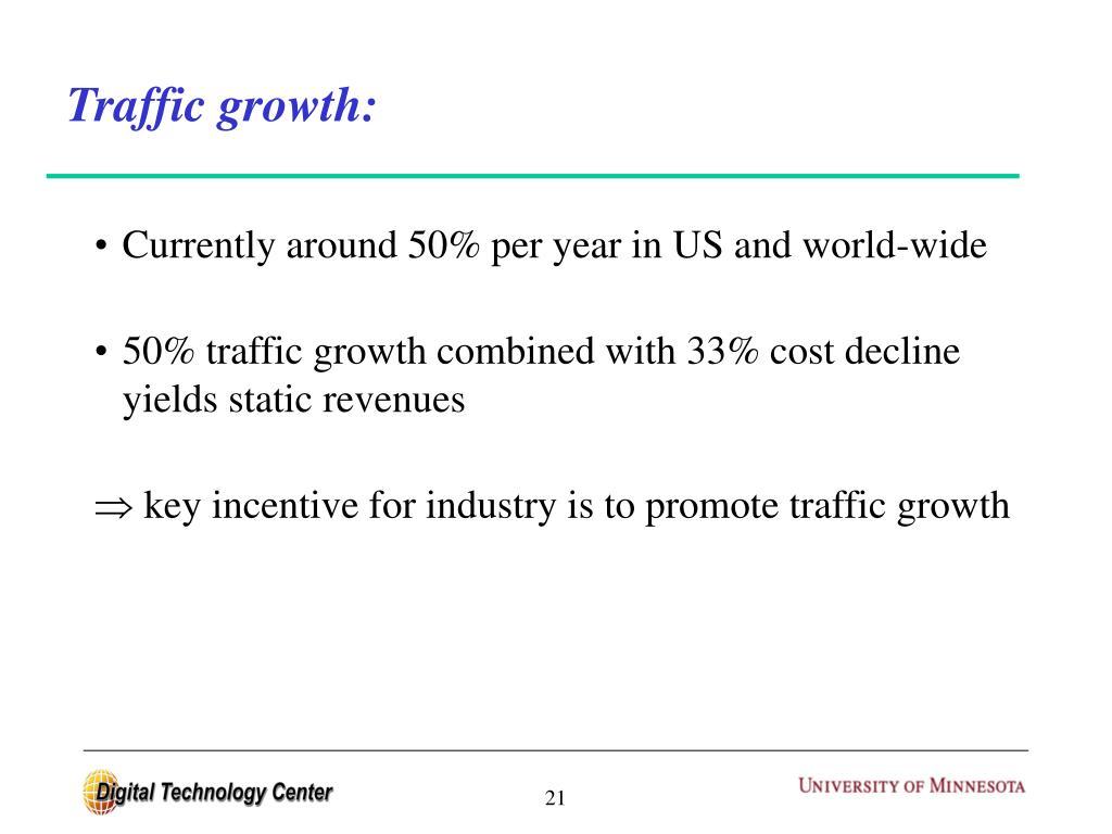 Traffic growth: