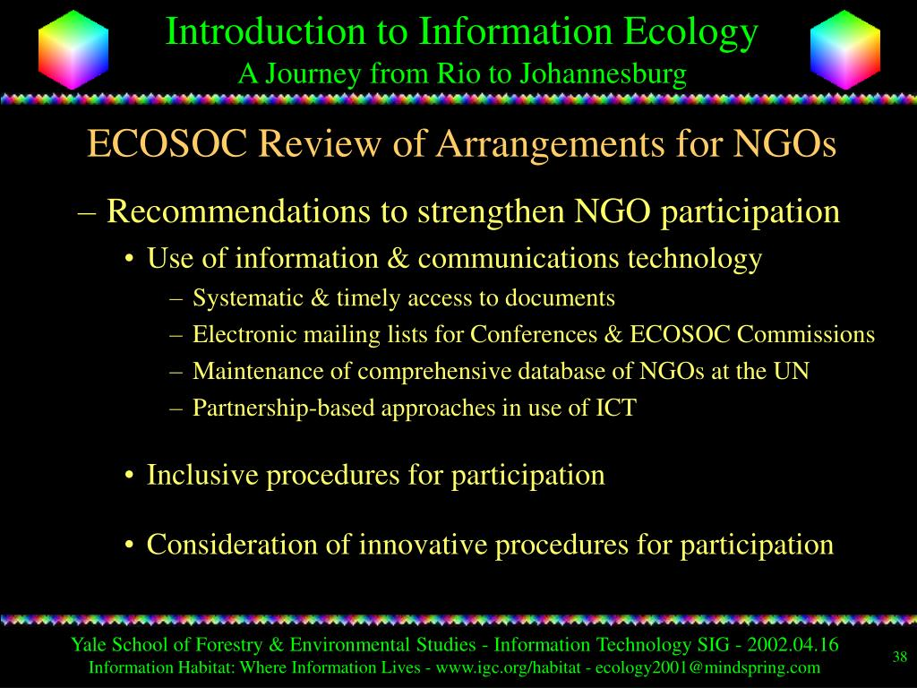 ECOSOC Review of Arrangements for NGOs