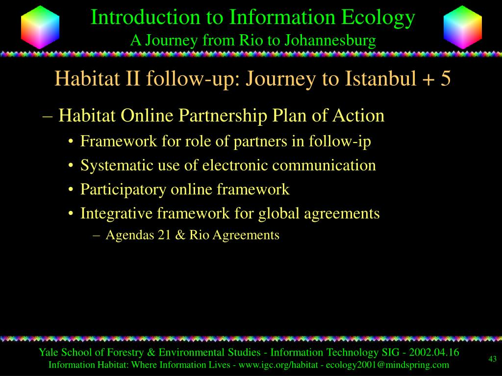 Habitat II follow-up: Journey to Istanbul + 5