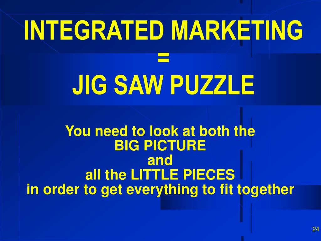 INTEGRATED MARKETING =