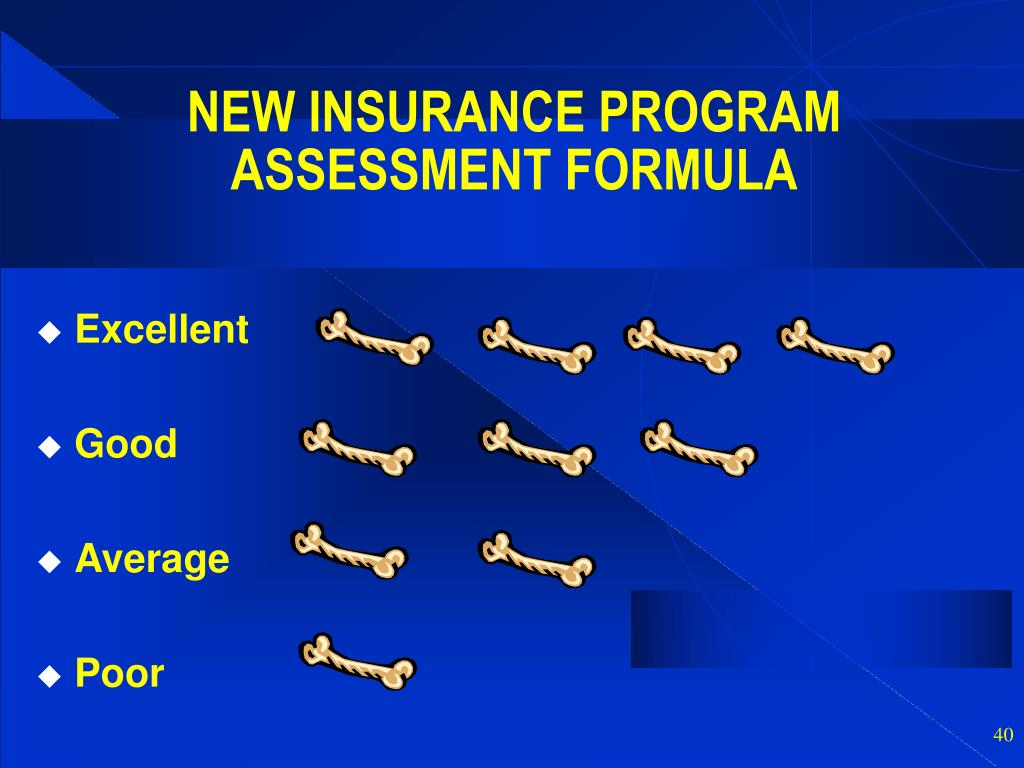 NEW INSURANCE PROGRAM ASSESSMENT FORMULA