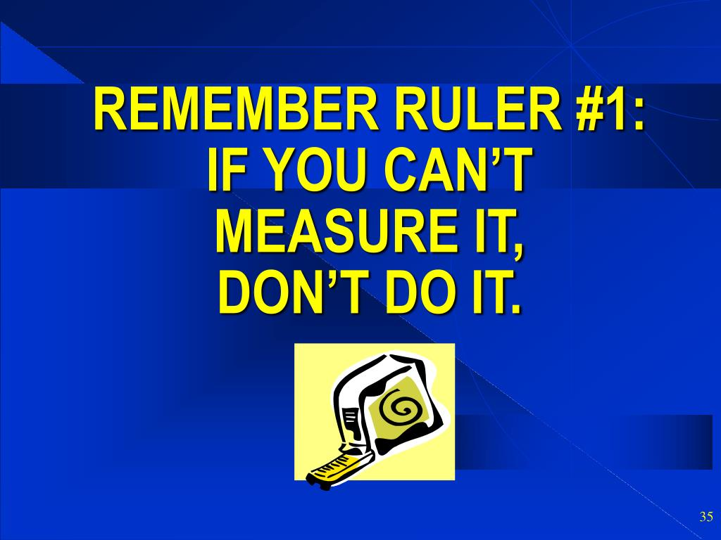 REMEMBER RULER #1: