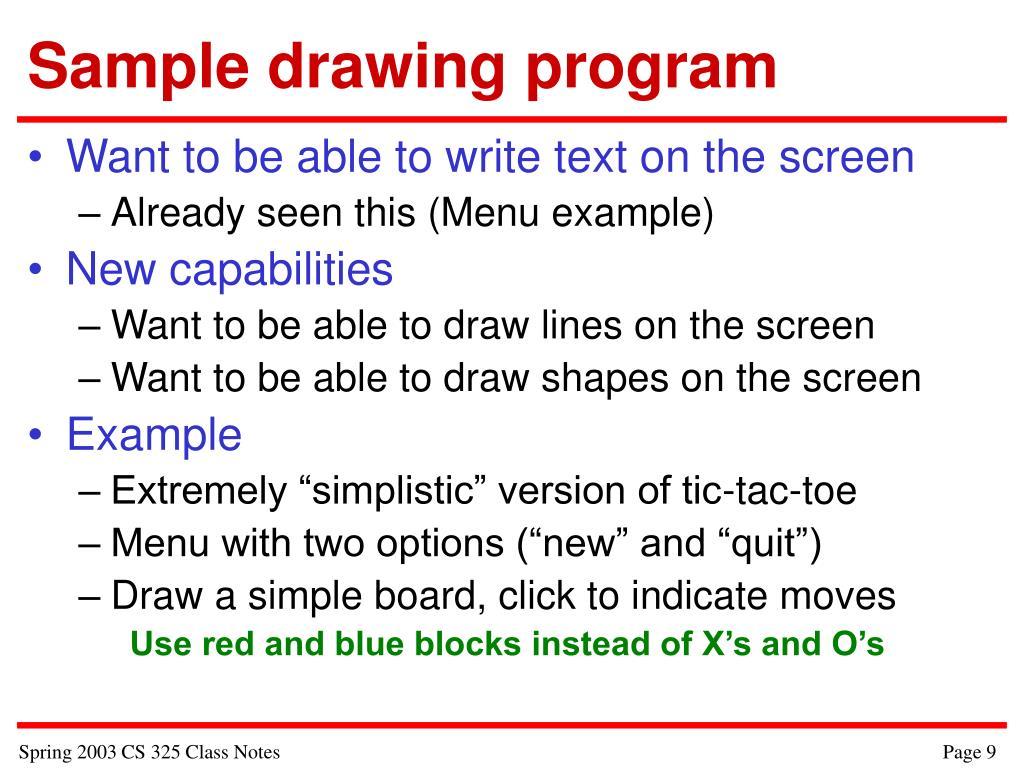 Sample drawing program