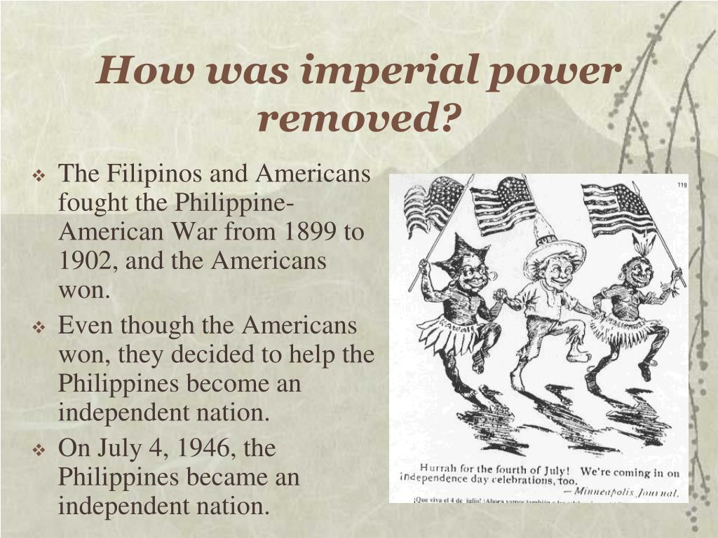 How was imperial power removed?