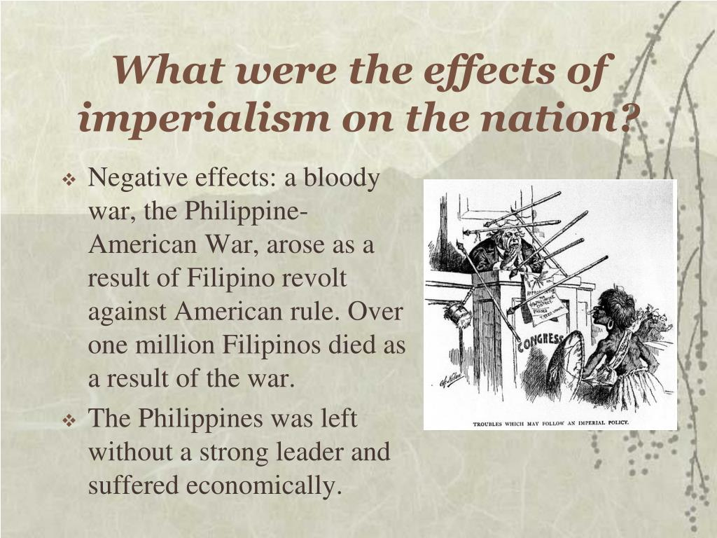 What were the effects of imperialism on the nation?