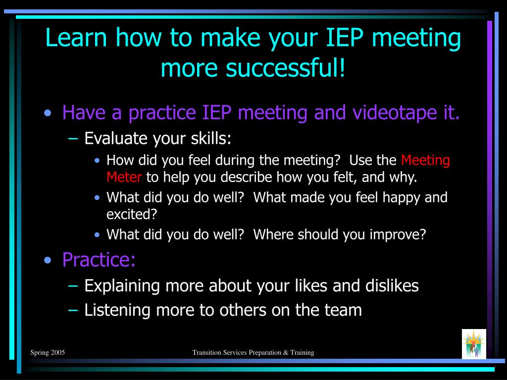 Learn how to make your IEP meeting more successful!