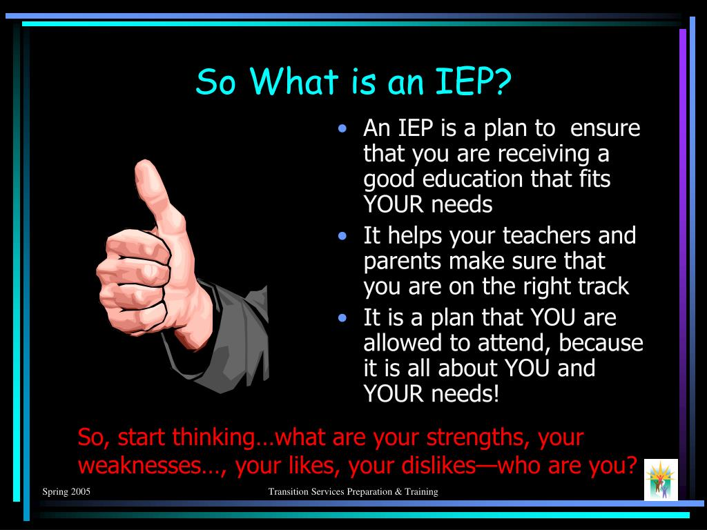 So What is an IEP?