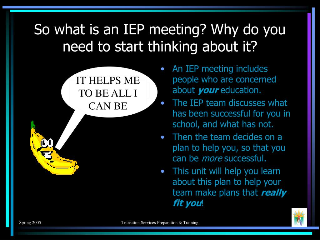 So what is an IEP meeting? Why do you need to start thinking about it?