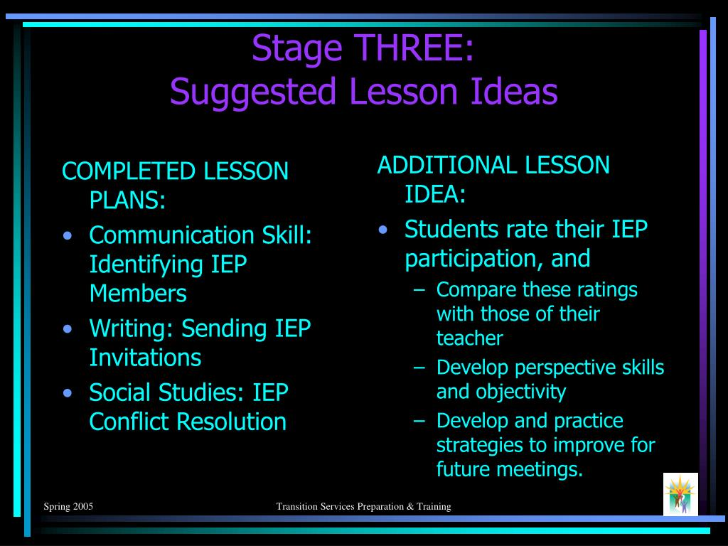 COMPLETED LESSON PLANS: