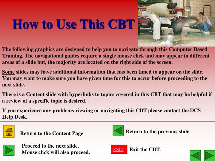 How to use this cbt