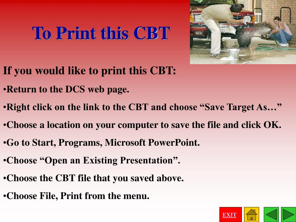 If you would like to print this CBT: