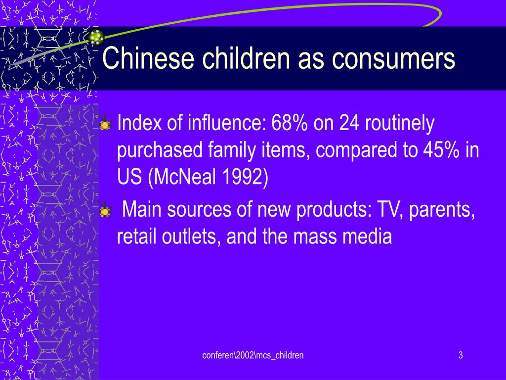 Chinese children as consumers