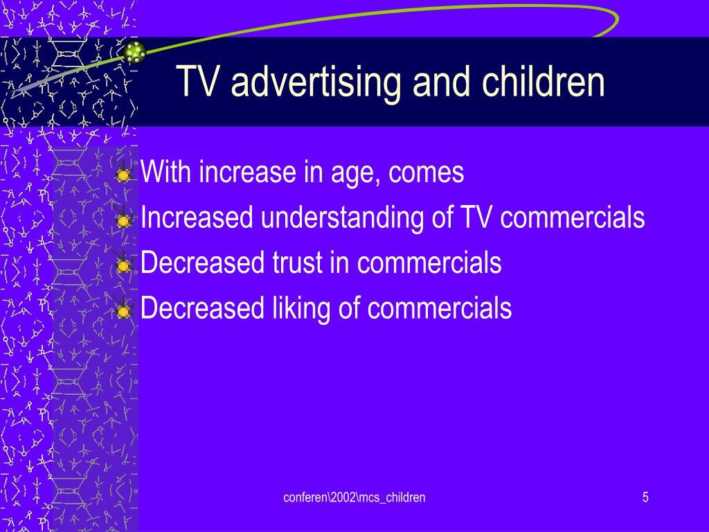 TV advertising and children