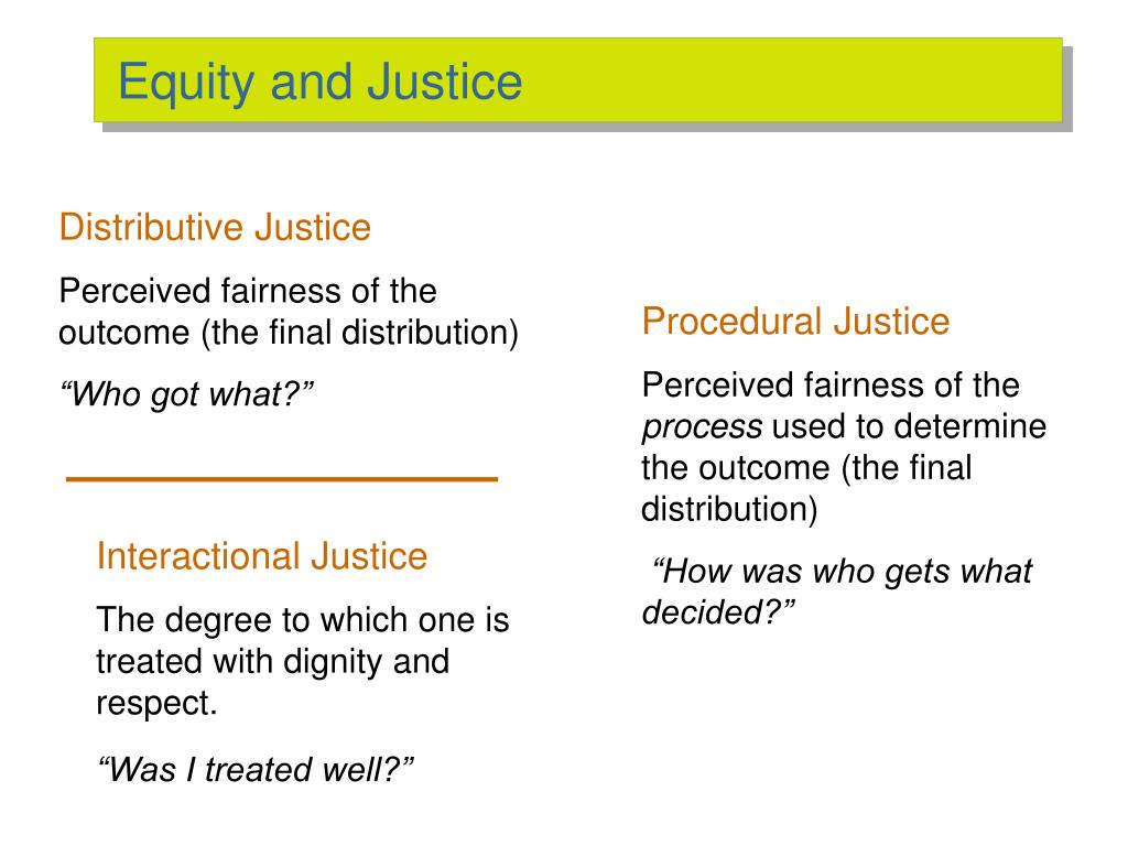 Equity and Justice