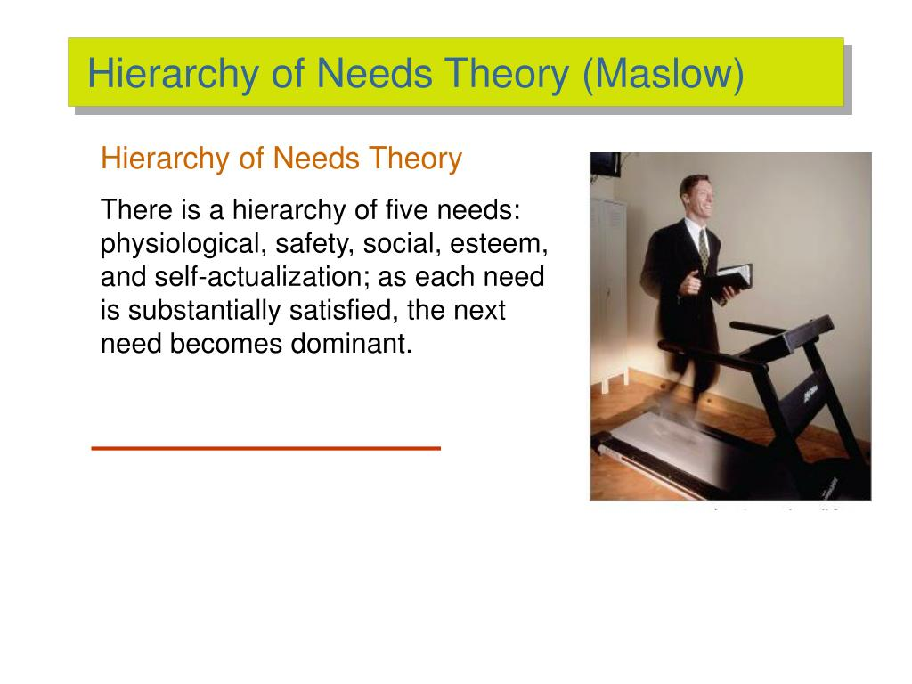Hierarchy of Needs Theory (Maslow)