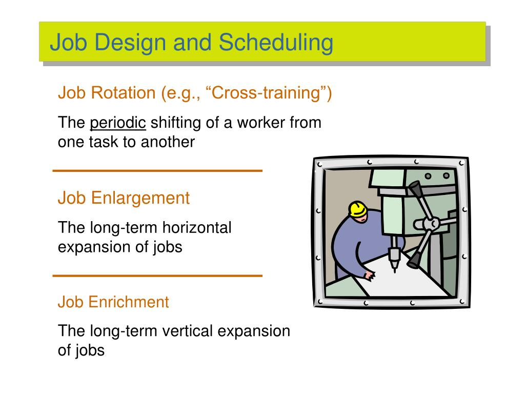 Job Design and Scheduling