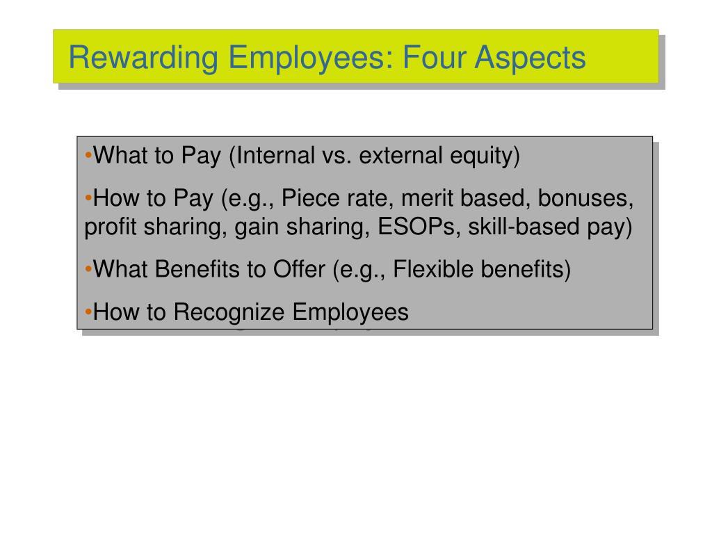 Rewarding Employees: Four Aspects