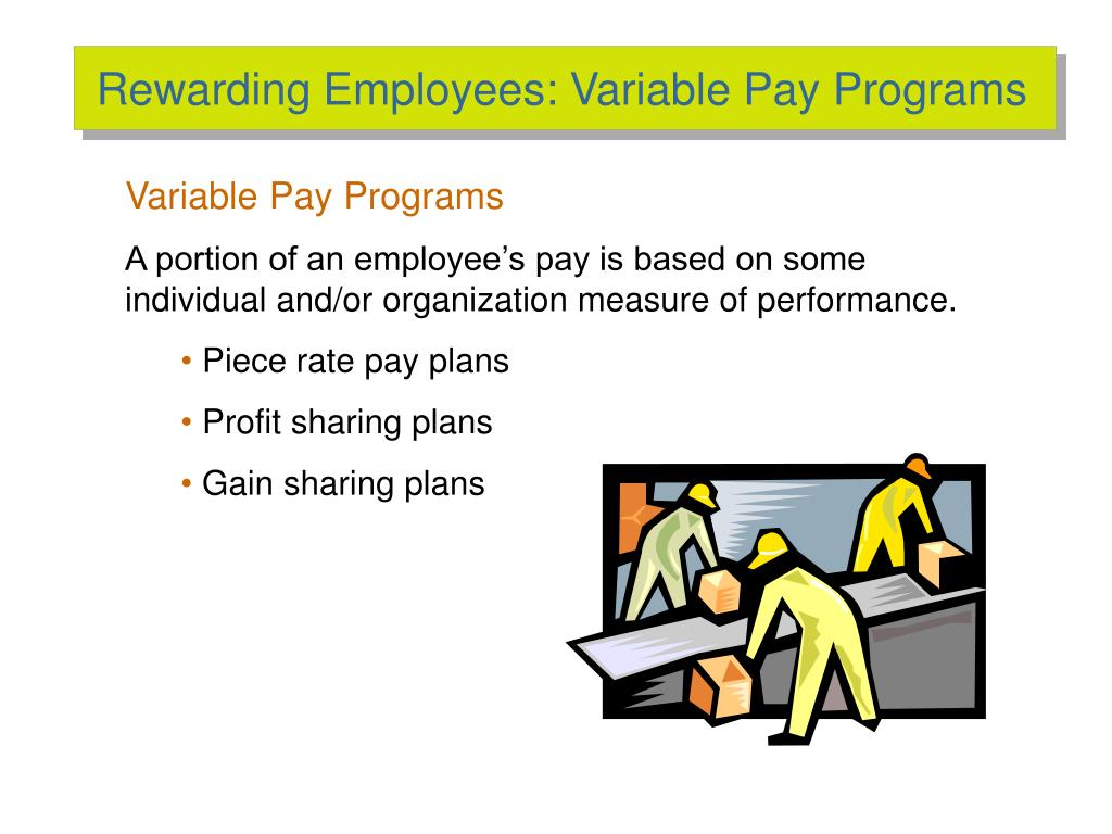 Rewarding Employees: Variable Pay Programs