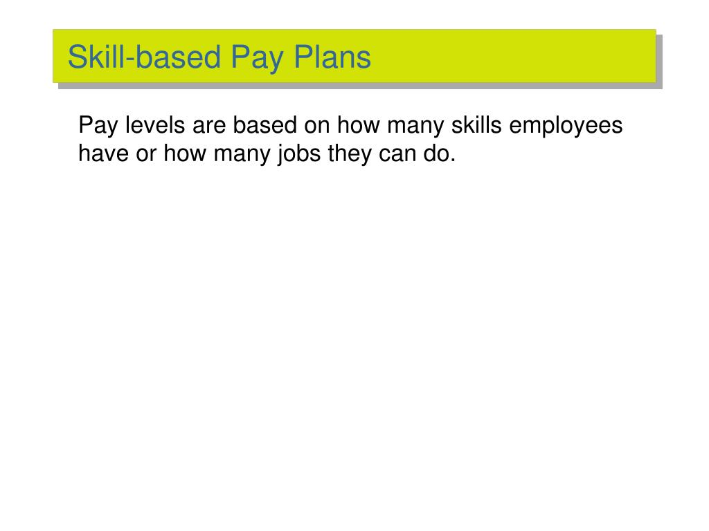 Skill-based Pay Plans