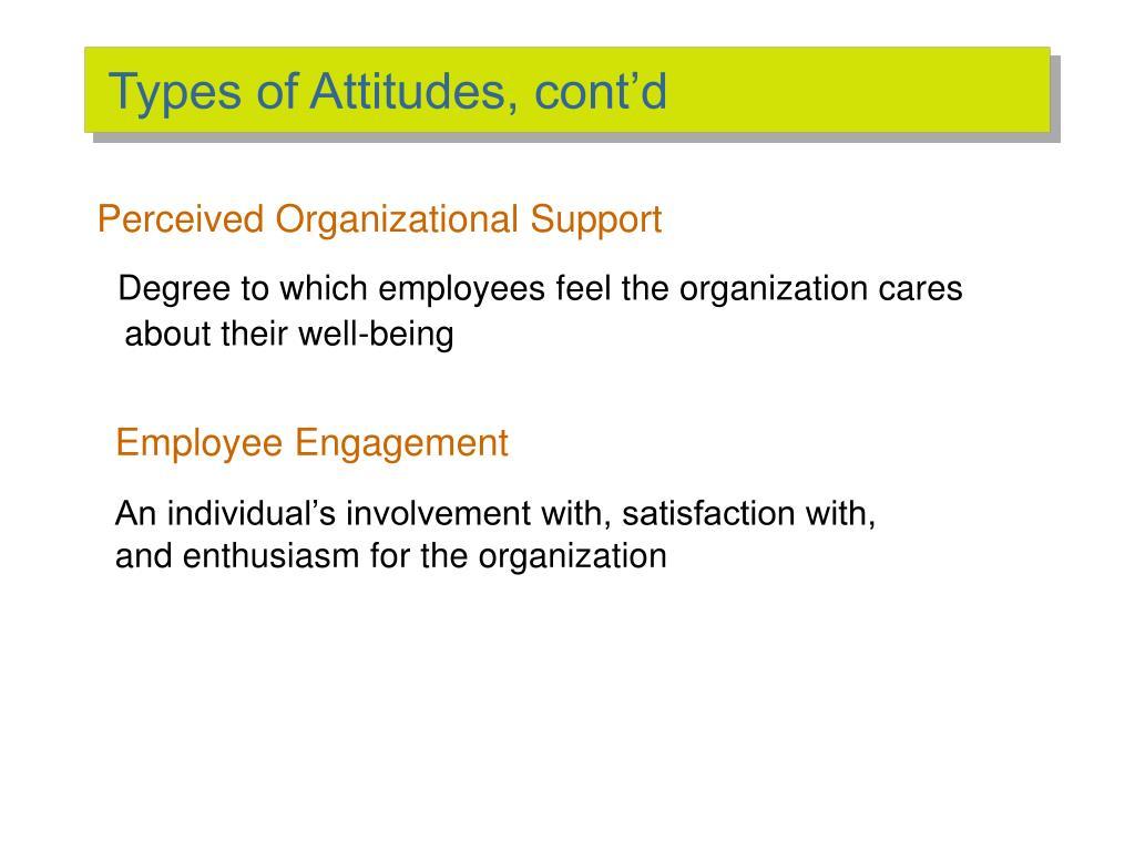 Types of Attitudes, cont'd