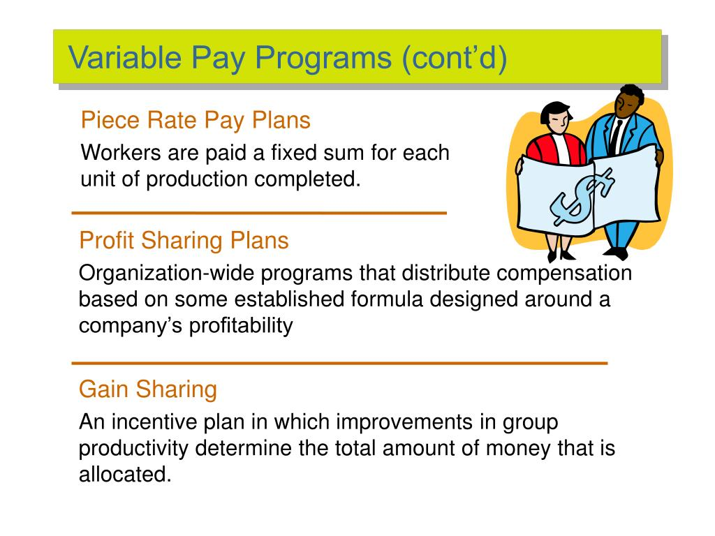 Variable Pay Programs (cont'd)