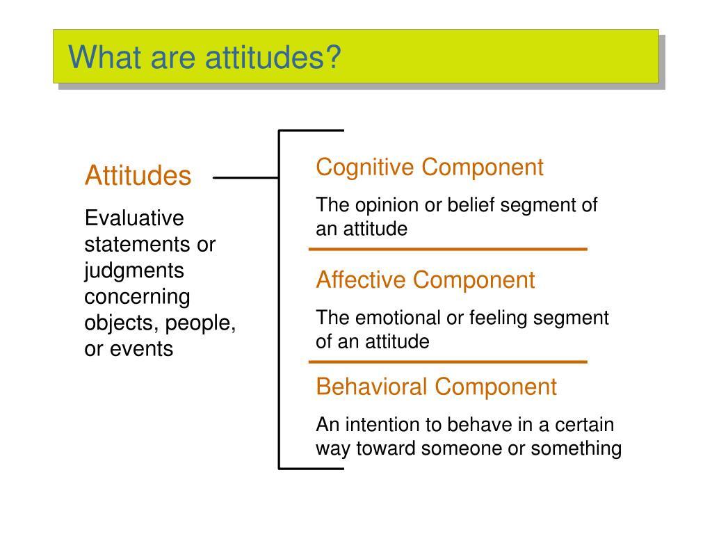 What are attitudes?