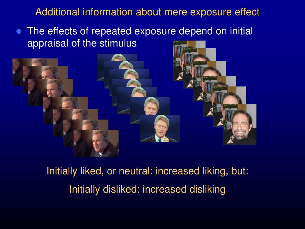 Additional information about mere exposure effect