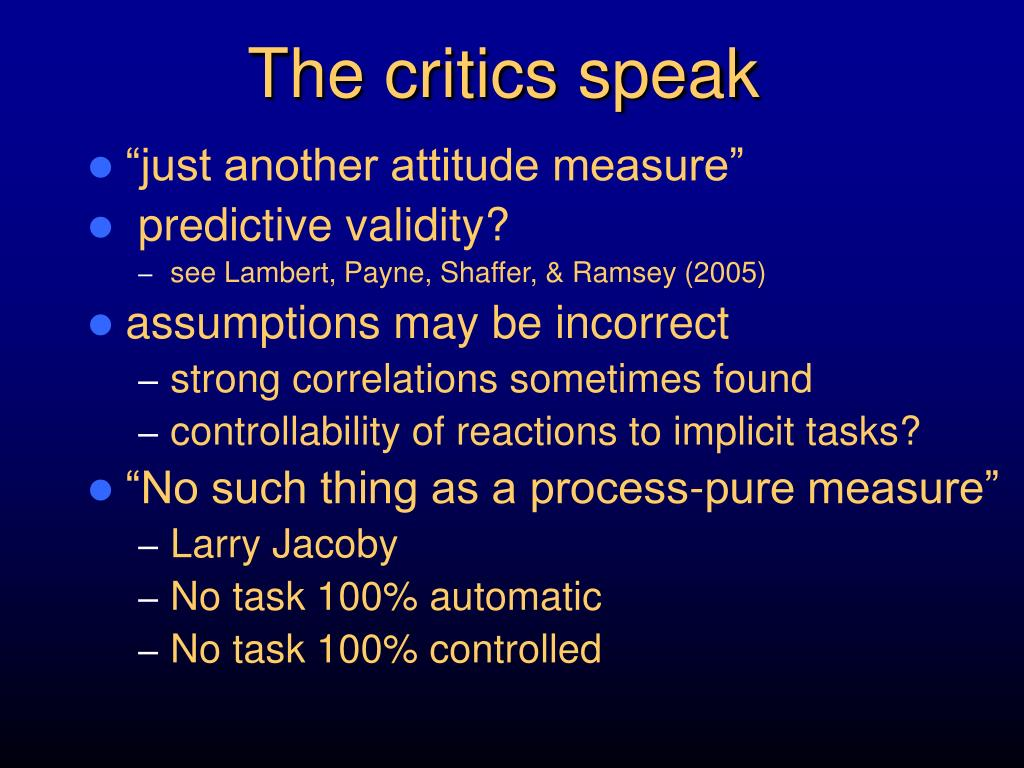 The critics speak