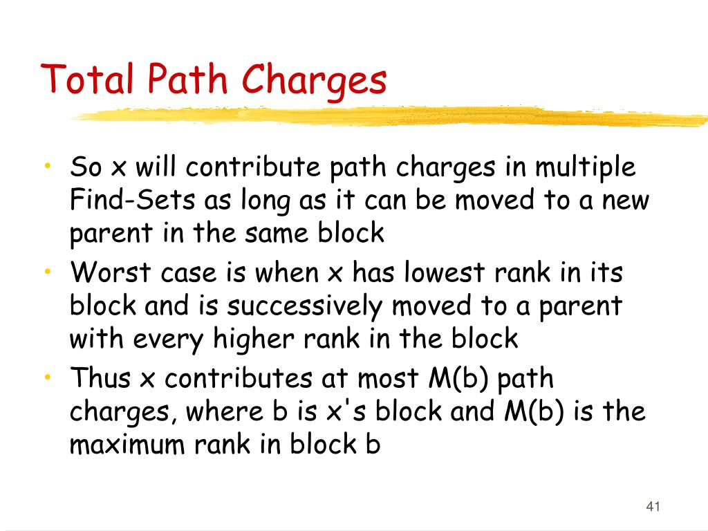 Total Path Charges
