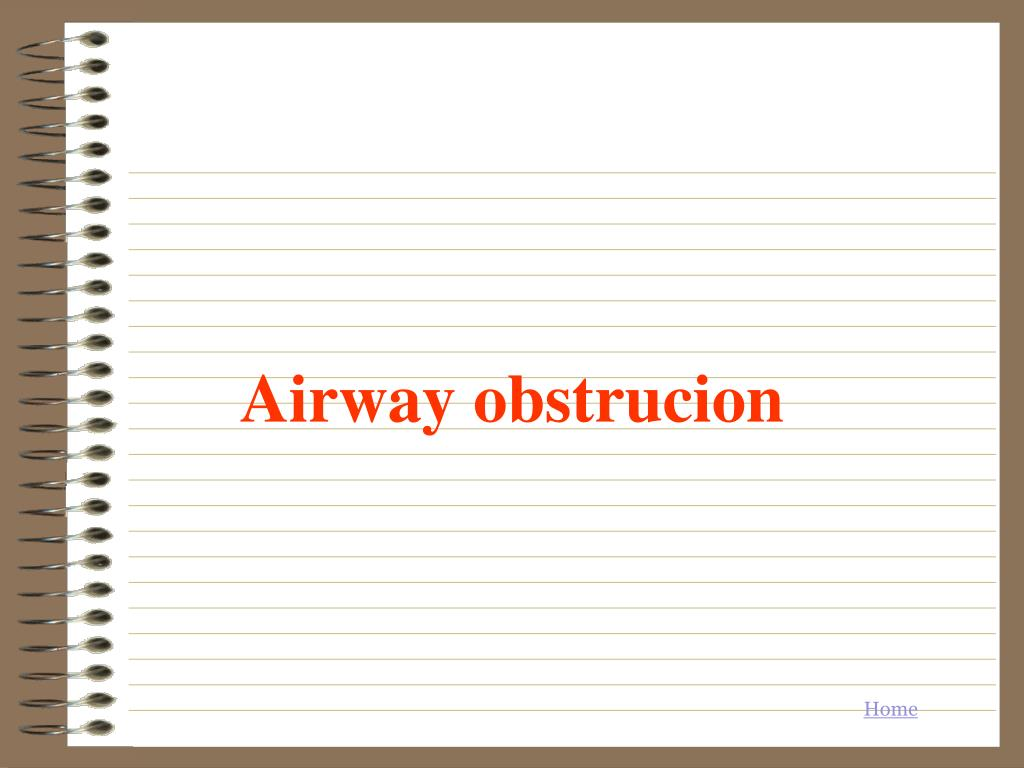 Airway obstrucion