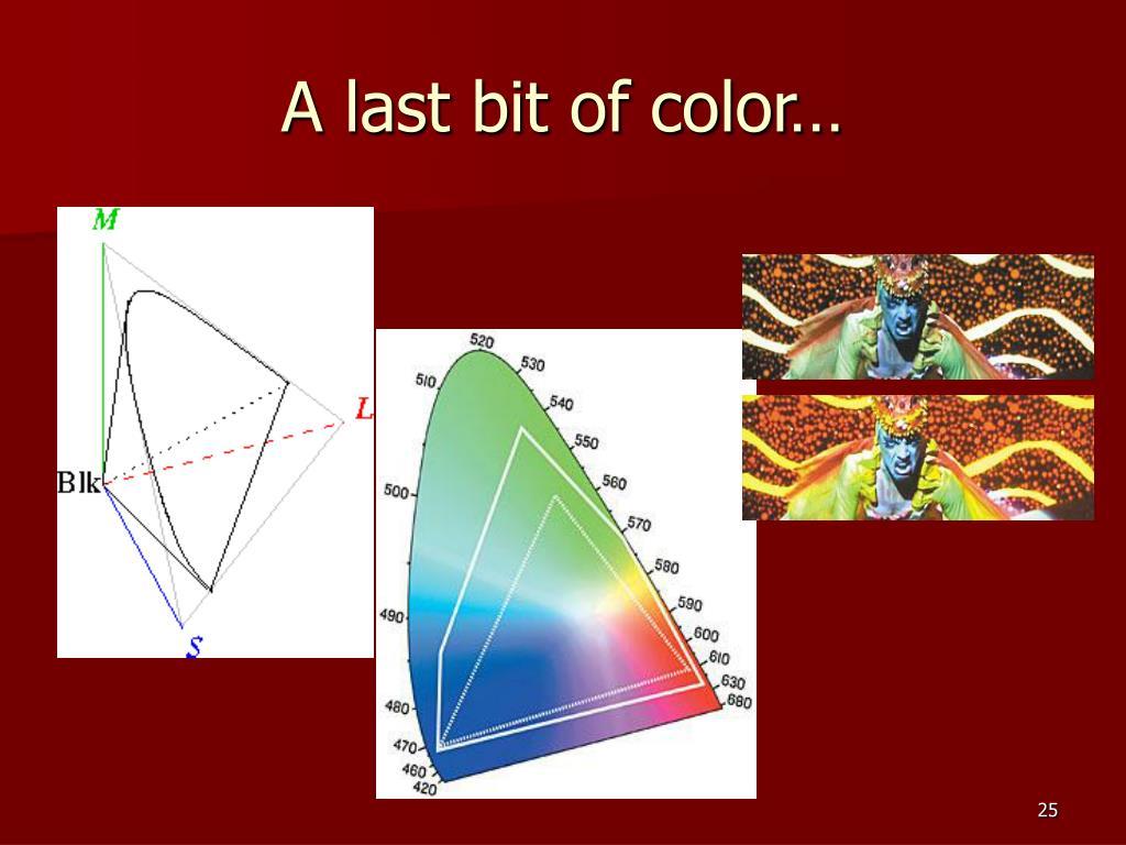 A last bit of color…
