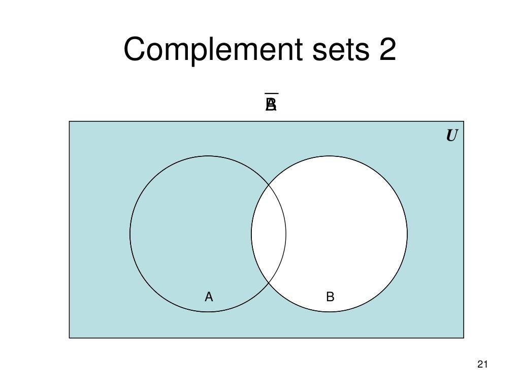 Complement sets 2