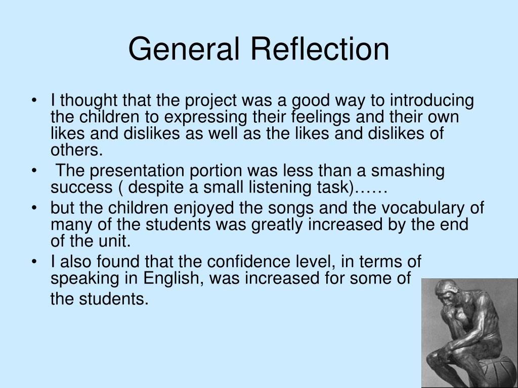 General Reflection