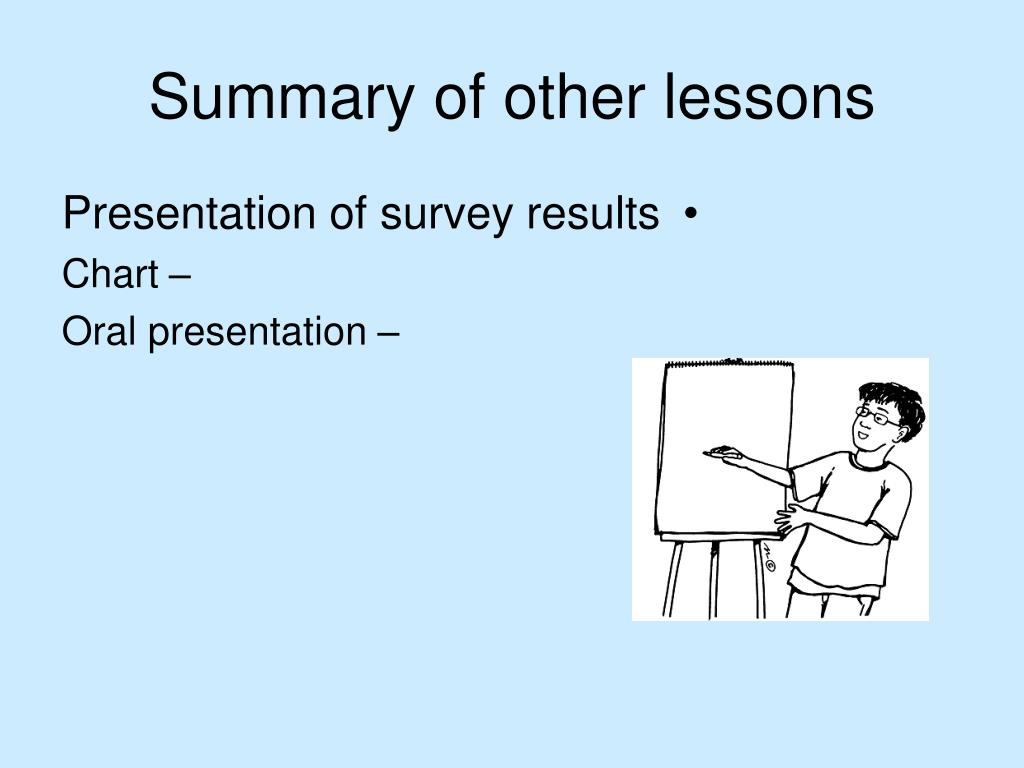 Summary of other lessons