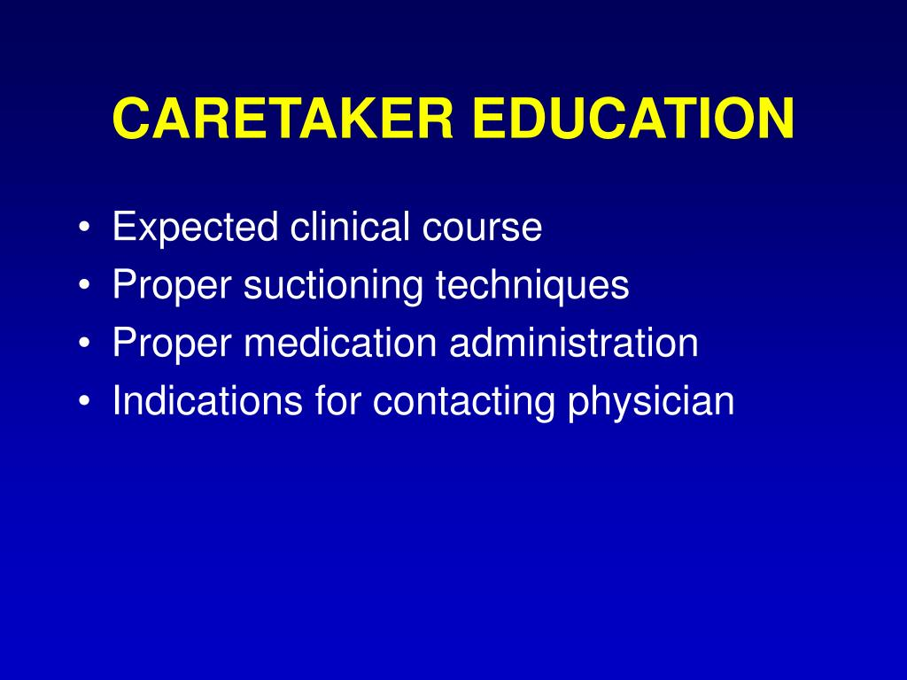 CARETAKER EDUCATION