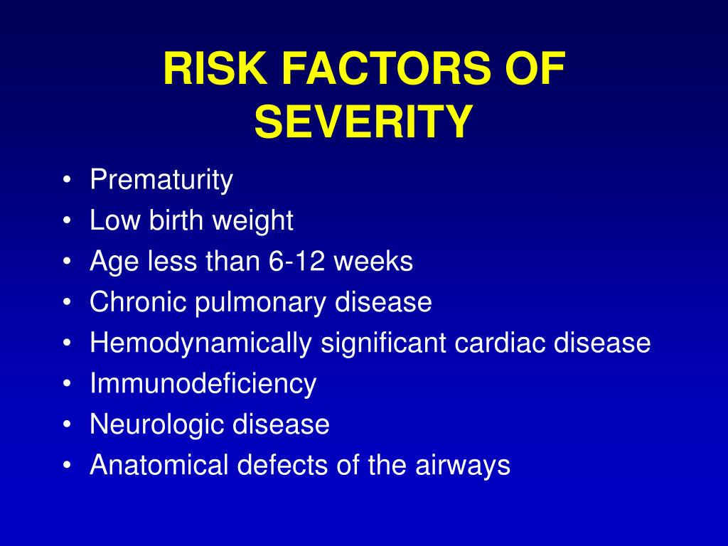 RISK FACTORS OF SEVERITY