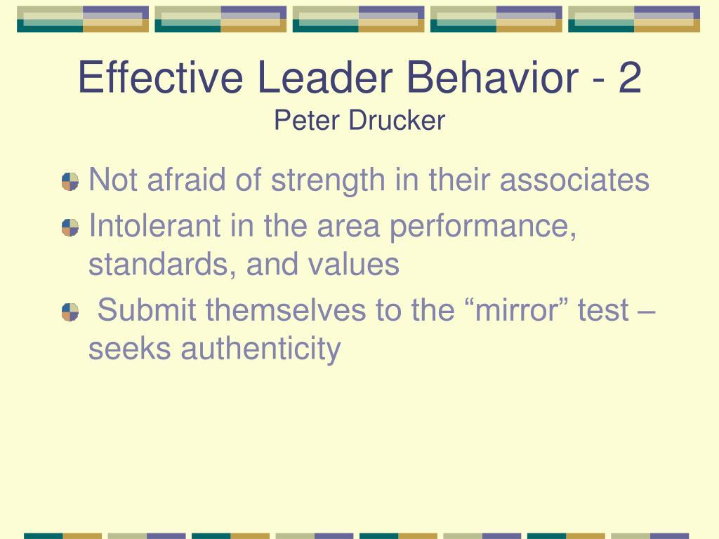 Effective Leader Behavior - 2