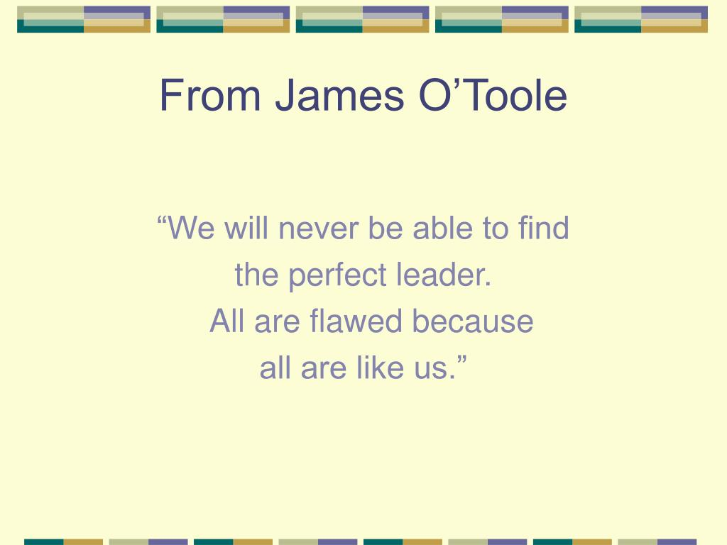 From James O'Toole