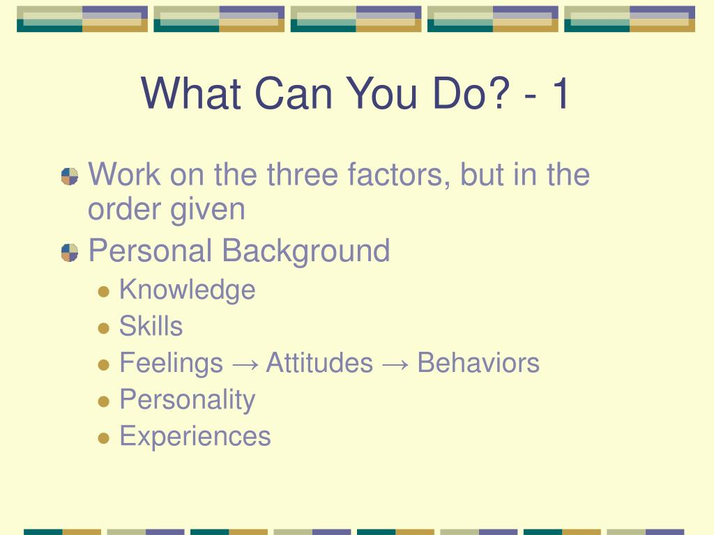 What Can You Do? - 1